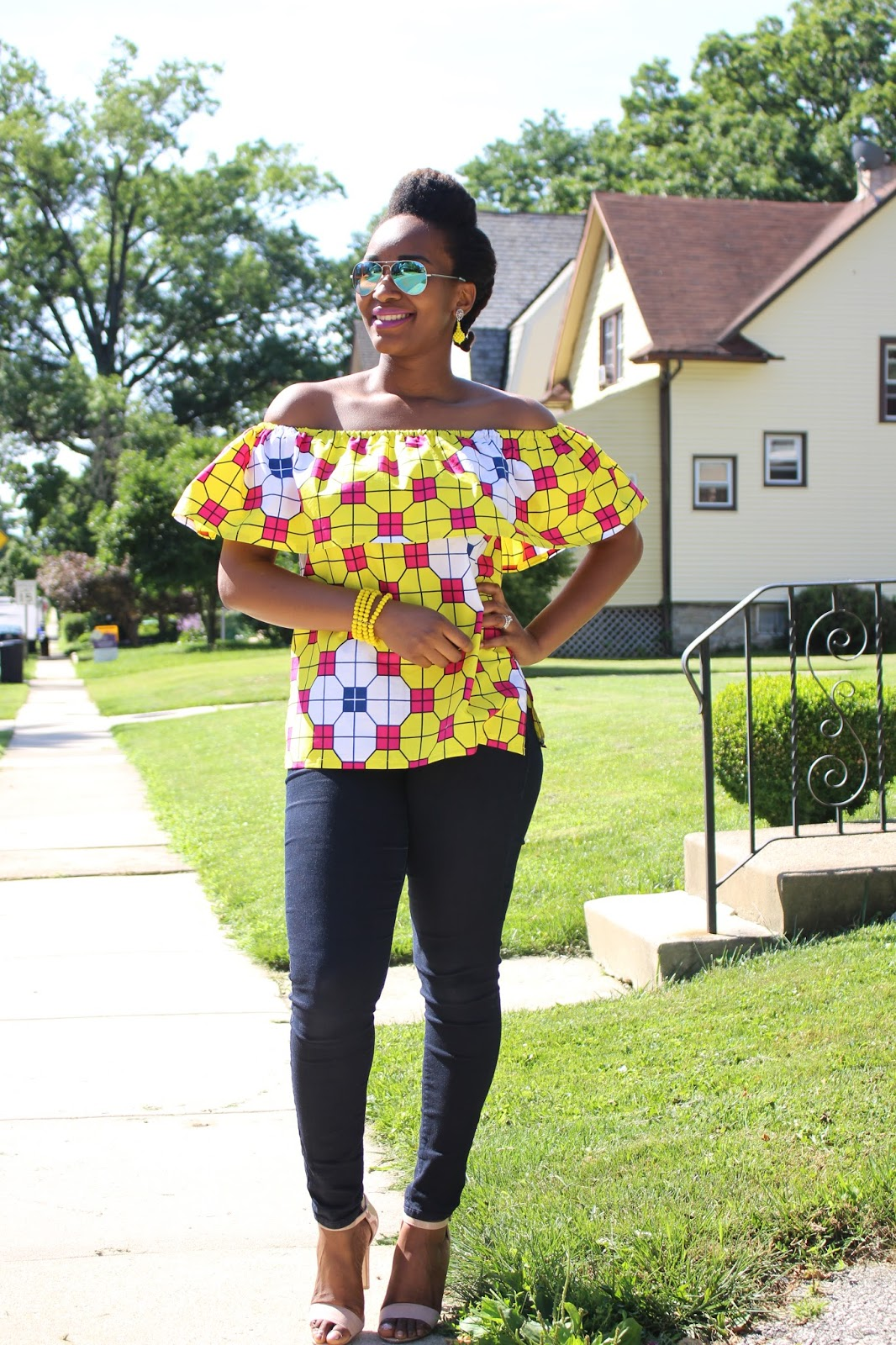 My Style Oasis, Off Shoulder Ankara Top