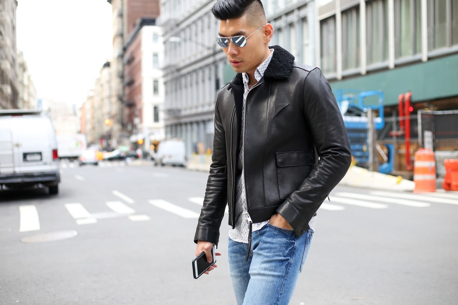 Slate Denim with All Saints Coat, Menswear Outfit