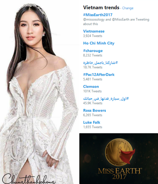 miss earth 2017 trending in vietnam-twitter