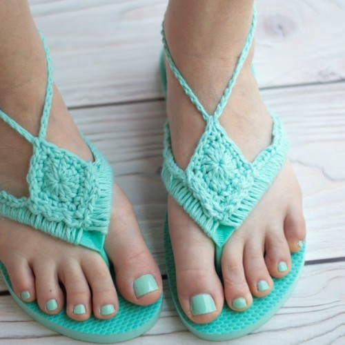 Crochet Flip Flops Upcycle - Free Pattern