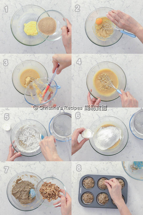 Banana Walnut Coffee Muffins Procedures02