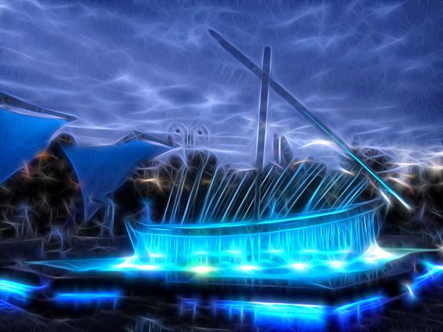 Красивые открытки бесплатно для вас от p_i_r_a_n_y_a фонтан парусник сочи синий фрактал волшебство