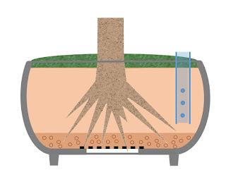 鉢に浸透桝を設置 完成