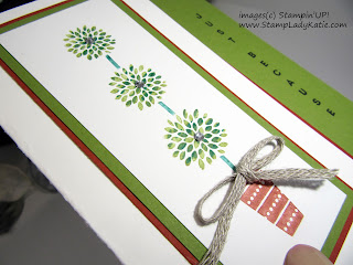 Card with a half-cut front featuring Stampin'UP!'s Vertical Greeting stamp set