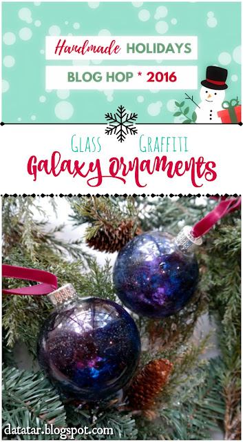 DIY Glass Graffiti Galaxy Glass Ornament Tutorial by Dana Tatar