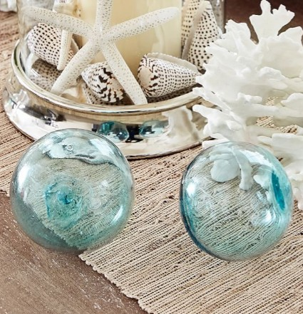 Recycled Glass Floats for Table Decor