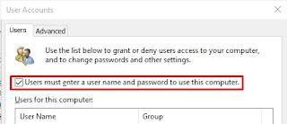 Cara Mudah Menghilangkan atau Menghapus Login Password Windows 10