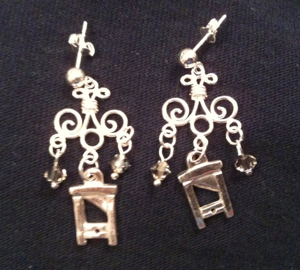 guillotine earrings that witch is me vive la r 233 volution 7294