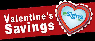 Valentine's Savings with eSigns.com