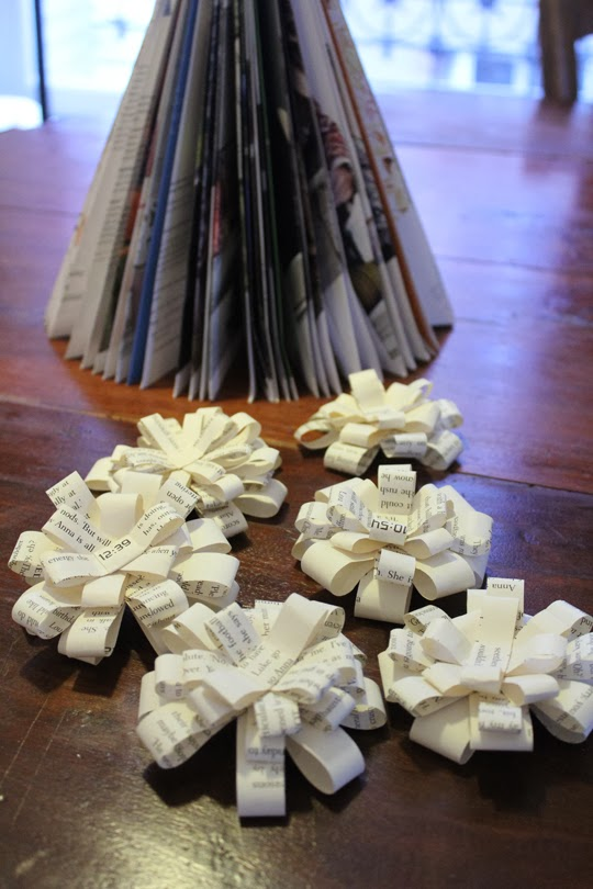 made paper bows christmas craft sustainable christmas mindful christmas