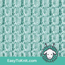 Waffle Rib stitch Pattern, just Knit Purl  #EasyToKnit