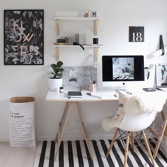 Nordic day dekorujeme jak na stylovou home office for Chambre we heart it