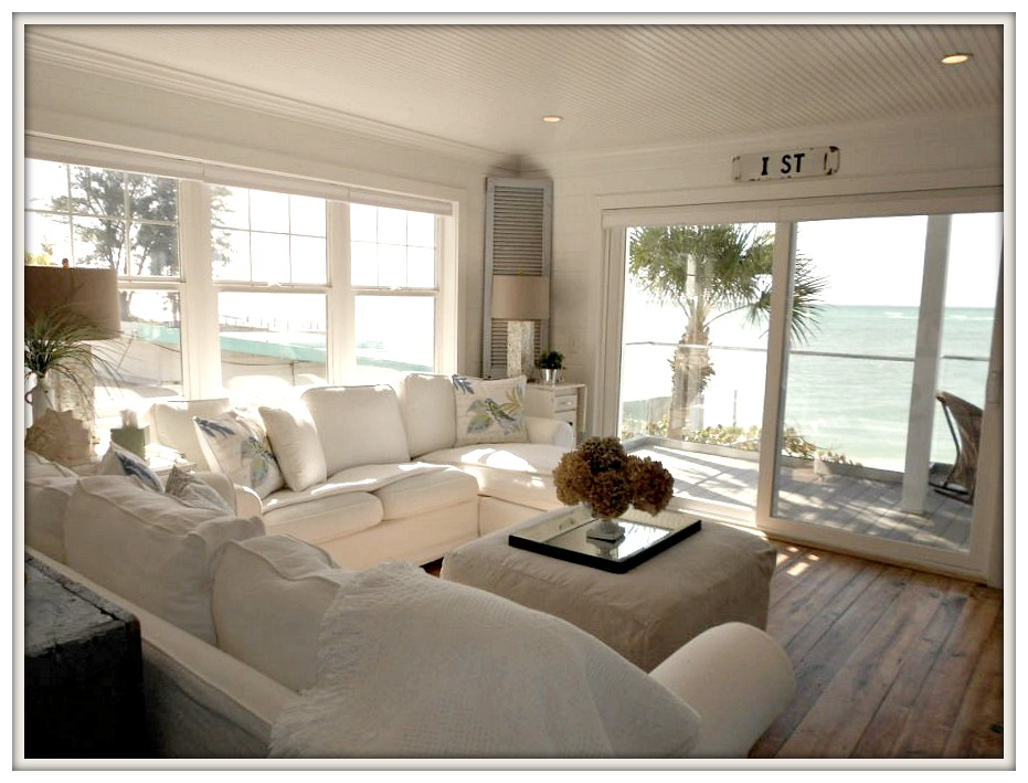 Farmhouse Beach Living Room-Serendipity I- Ana Maria Island Rental- From My Front Porch To Yours