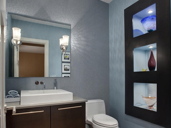 Taste of August: Bathroom Renovation - Ideas - Charcoal Grey Color Bathroom Designs