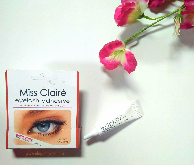 Miss Claire Eyelash Adhesive Dark Tone Review Swatches Elegant Eves