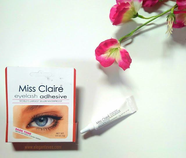 Miss Claire Eyelash Adhesive Dark Tone- Review, Swatches