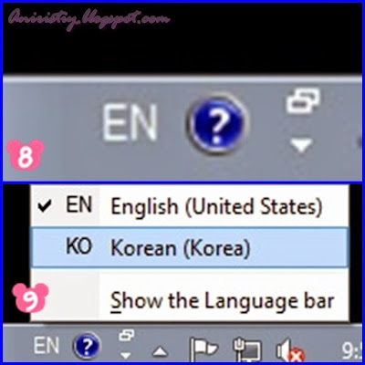 menulis hangul di windows 7