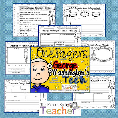 One Pager activities for the book George Washington's Teeth.