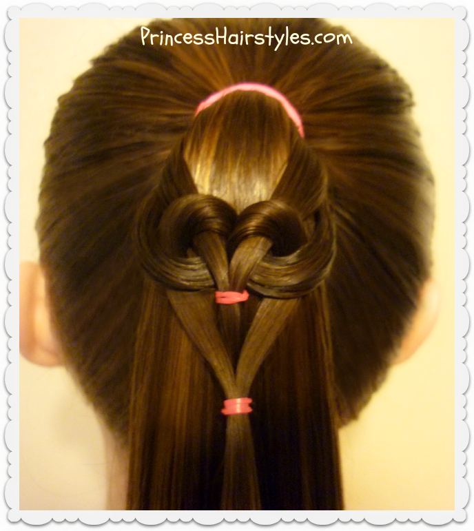 Hanging Heart Ponytail Hairstyles For Girls Princess Hairstyles