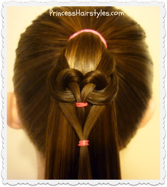 hanging heart ponytail - hairstyles