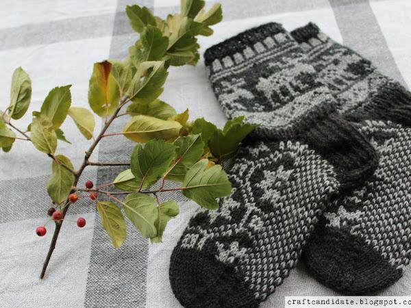 Porosukat - Reindeer wool socks