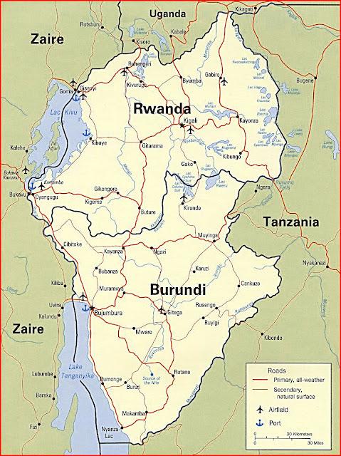 image: Rwanda and Burundi map