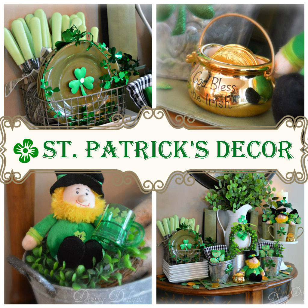 Dining Delight: St. Patrick's Day Kitchen Display