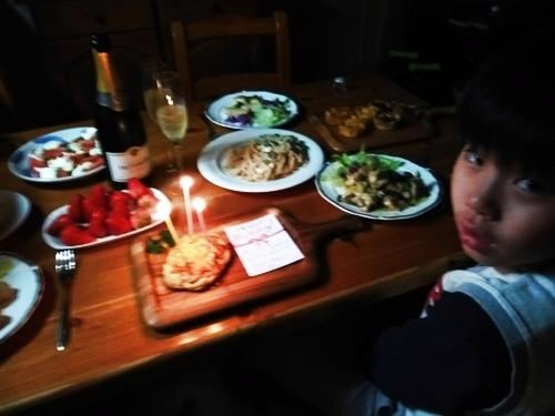 息子の1/2成人式と誕生日のお祝い