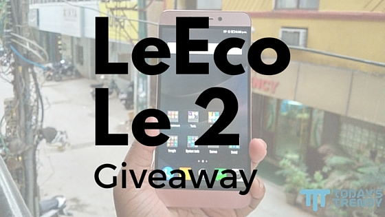 LeEco Le 2 smartphone and discount coupons giveaway