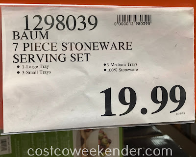 Deal for the Baum 7-piece Stoneware Serving Set at Costco