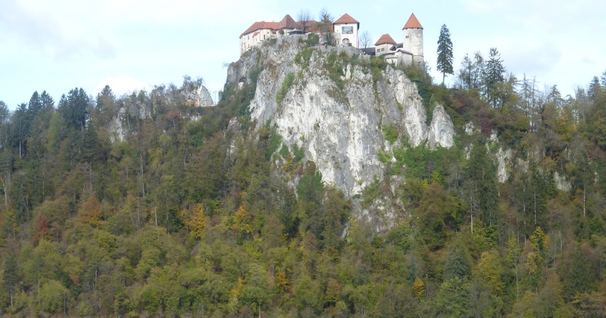 Der Veldesee in Oberkrain Kirchner Slovenien Bleder See Burg Holzstich E 18496