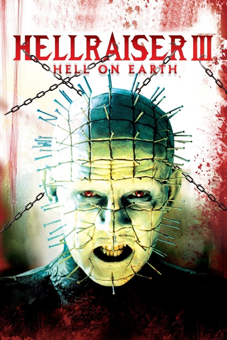 Poster Of Hellraiser III Hell on Earth 1992 Dual Audio 720p UNCUT BluRay [Hindi - English] ESubs Free Download Watch Online downloadhub.in