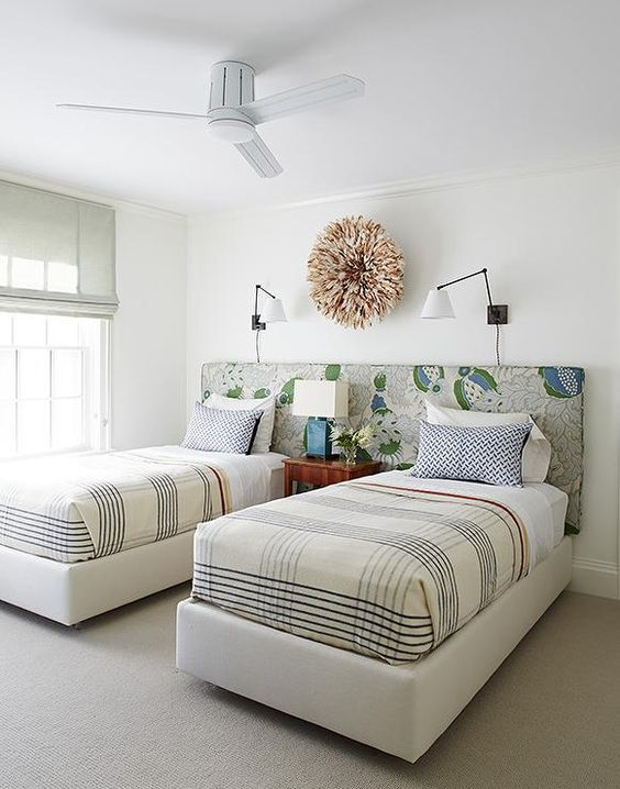 Uma cabeceira prá duas camas