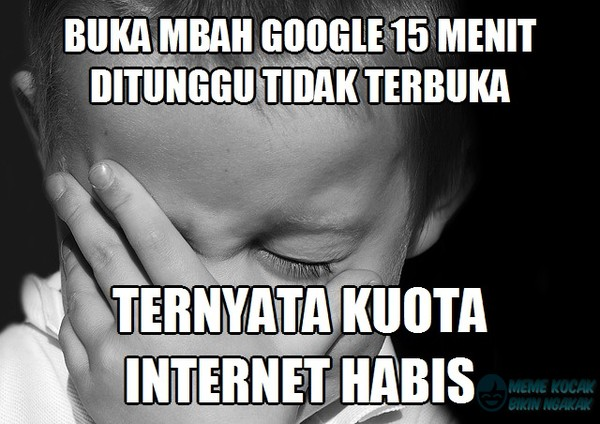 Meme Lucu Kuota Internet
