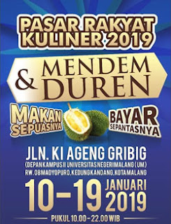 Pesta Durian di Pasar Rakyat Kuliner 2019, Ki Ageng Gribig, Madyopuro, Malang
