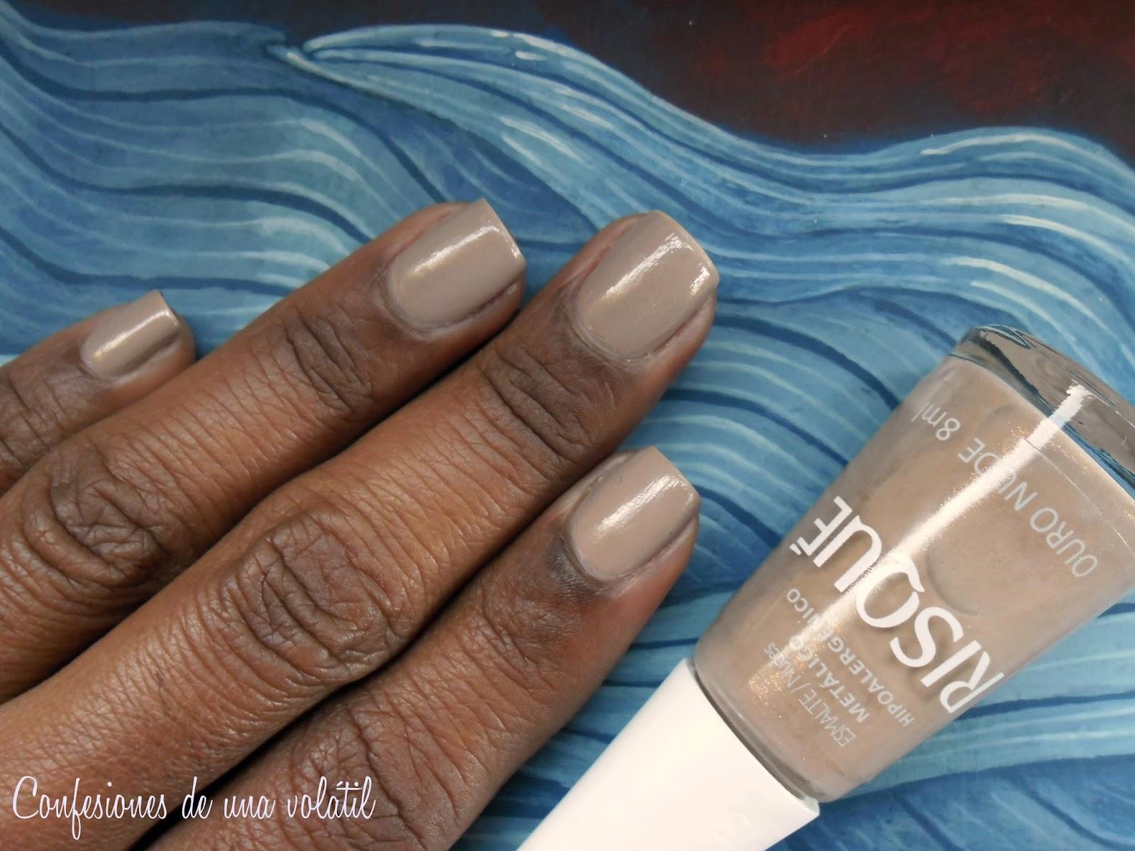 En las uñas: Ouro nude, de Risqué [Petición especial para Kari, de ...