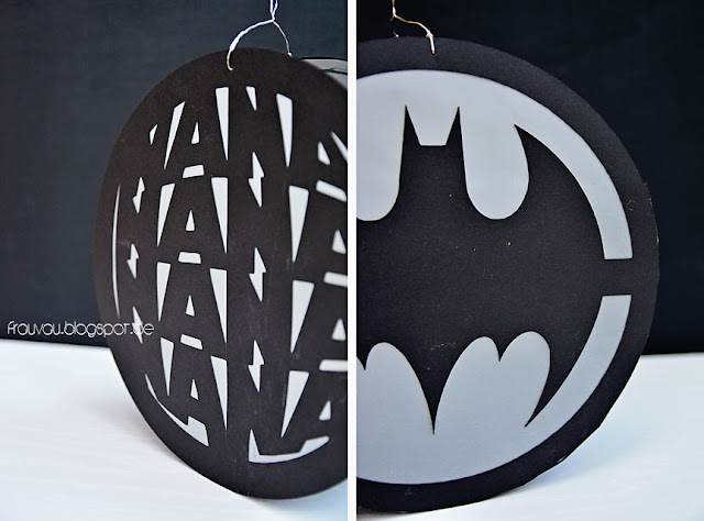 frauvau.blogspot.de - Batman Laterne DIY (Last Minute St. Martin mit Plotter Freebie)