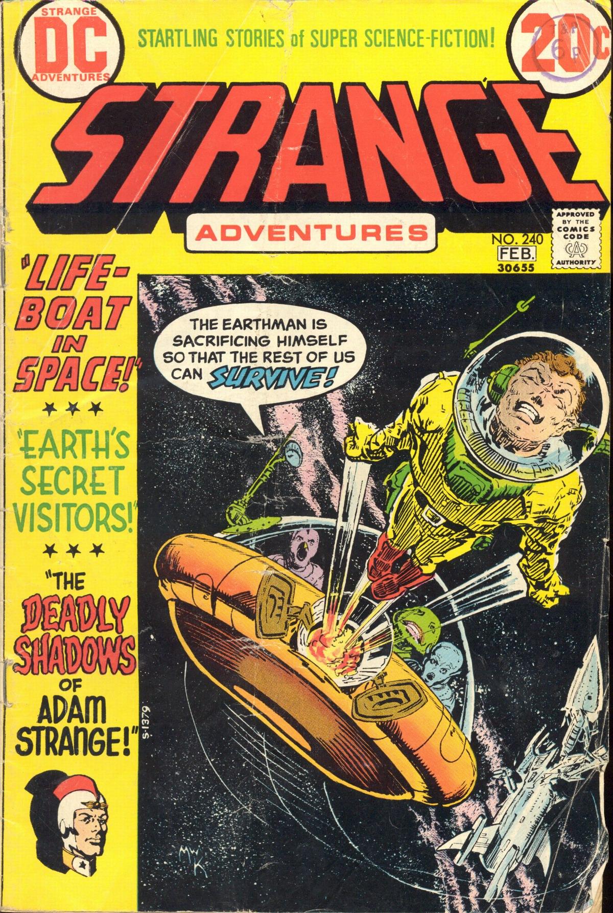 Strange Adventures (1950) issue 240 - Page 1
