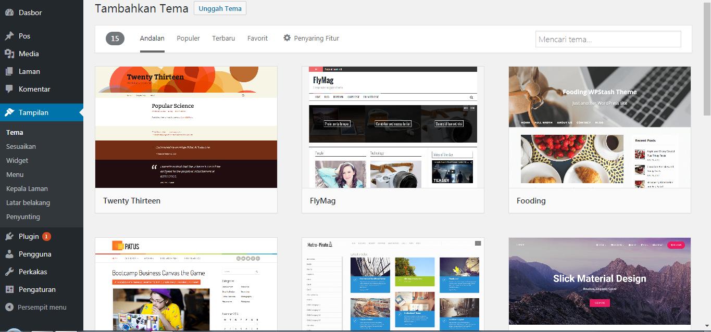 Tutorial 3 Cara Mengganti Template WordPress - Om Gazz Blog