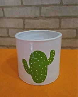Pot Lukis Kaktus
