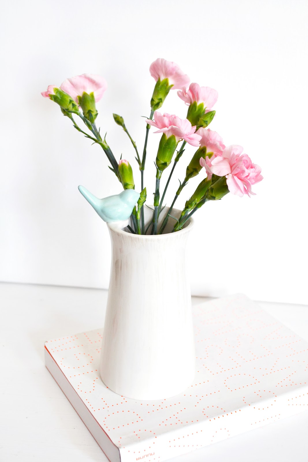 shabby chic homeware, pink carnations