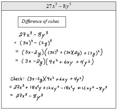 Openalgebra Factoring Special Binomials