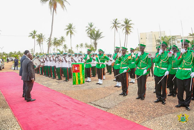 Ghana President Akufo-Addo [R] and Togo President Faure Essozimna Gnassingbé [L]