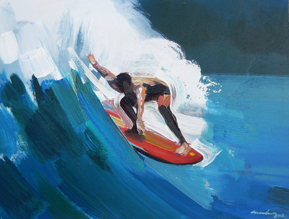 Vincenzo Ganadu: surf de trazo corto y color exhuberante