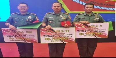 Kodim Rembang Raih Dua Kategori Juara Jurnalis TMMD