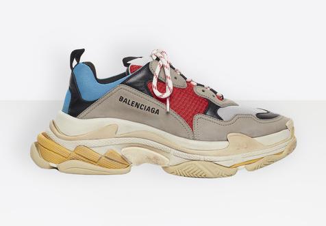 Balenciaga Vintage Triple S Trainers Fashion Sneakers Blue nam nữ