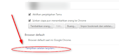cara reset google chrome