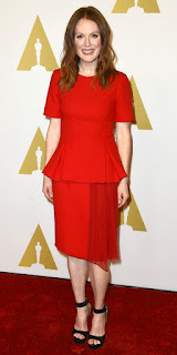 Julianne Moore Smiling In Red Outfit