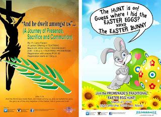 Fr. Larry Faraon's Lenten Recollection at Teatrino and Easter Egg Hunt at Promenade