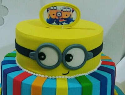In Pictures Mercy Johnsons Son Gets Minions Birthday Cake As He